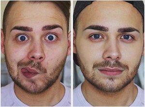 متعادل سازی چهره مردان